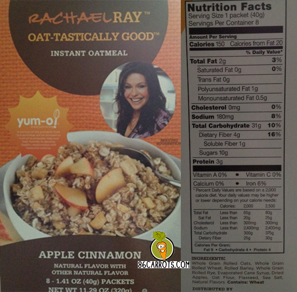 Rachael Ray Oat-Tastically Good Instant Oatmeal